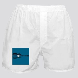 Trees sea and the moon turned guitar Boxer Shorts