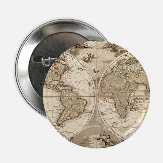 "Vintage map 2.25"" Button"