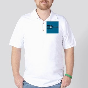 Trees sea and the moon turned guitar Golf Shirt