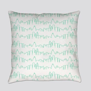 Chicago Green Lines Everyday Pillow