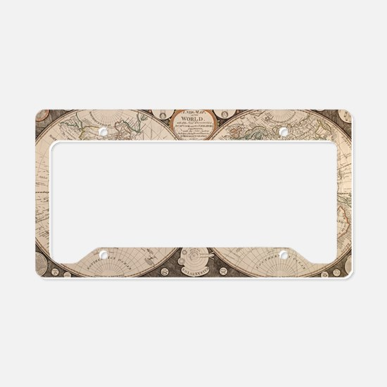 Funny Map License Plate Holder