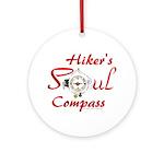 Hiker's Soul Compass Round Ornament