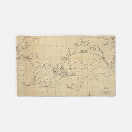 Cute Antique world map Area Rug