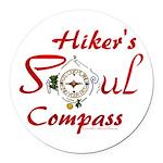 Hiker's Soul Compass Round Car Magnet