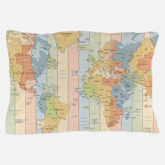 Cute Time zone Pillow Case