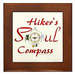 Hiker's Soul Compass Framed Tile