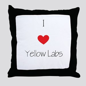 I love Yellow Labs Throw Pillow