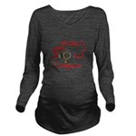 Hiker's Soul Compass Long Sleeve Maternity T-Shirt