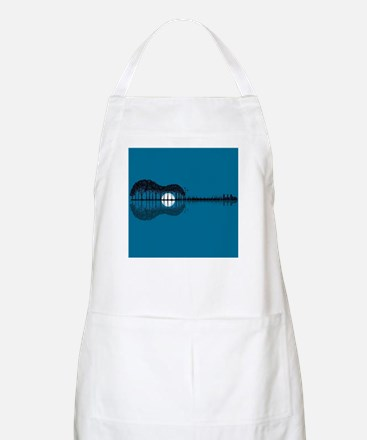 Trees sea and the moon turned guitar Light Apron