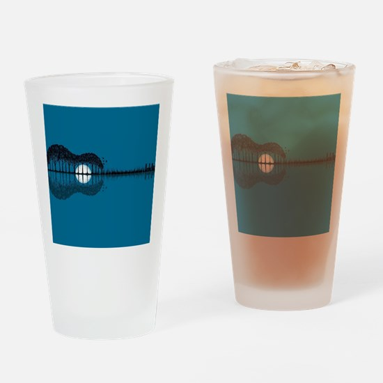 Trees sea and the moon turned guita Drinking Glass