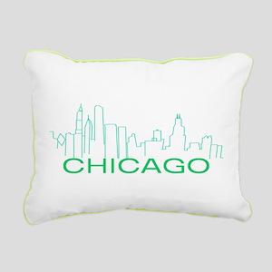 Chicago Green Line Rectangular Canvas Pillow