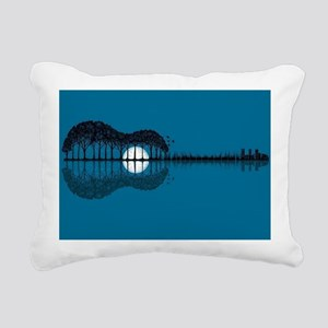 Trees sea and the moon t Rectangular Canvas Pillow