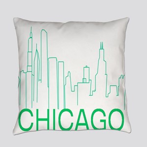 Chicago Green Line Everyday Pillow