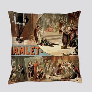 Vintage Hamlet Theatre Poster Everyday Pillow