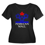 Penn Can Mall Women's Plus Size Scoop Neck Dark T-