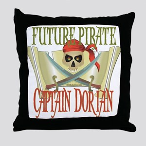 Future Pirates Throw Pillow
