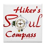 Hiker's Soul Compass Tile Coaster