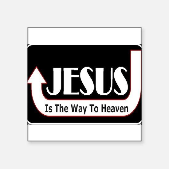 "Unique Jesus saves Square Sticker 3"" x 3"""