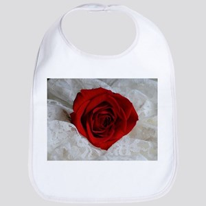 Wonderful Red Rose Bib