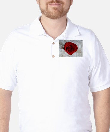 Wonderful Red Rose Golf Shirt
