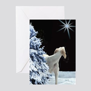 Holiday Greeting Cards (Pk of 10) Saluki Star Gree