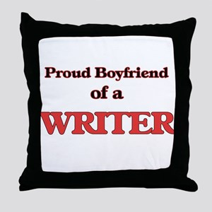 Proud Boyfriend of a Higher Education Throw Pillow