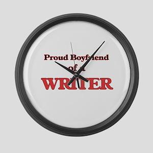 Proud Boyfriend of a Higher Educa Large Wall Clock