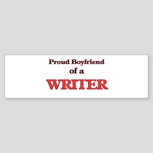 Proud Boyfriend of a Higher Educati Bumper Sticker