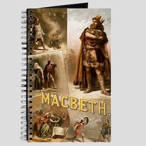 Vintage Macbeth Theatre Poster Journal