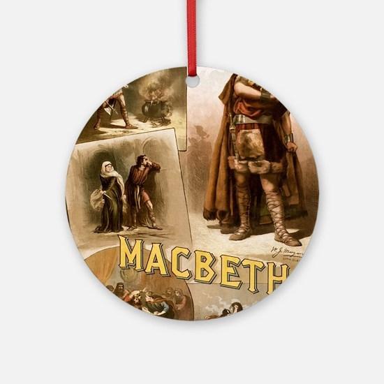 Vintage Macbeth Theatre Poster Round Ornament
