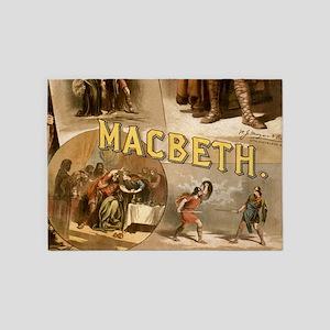 Vintage Macbeth Theatre Poster 5'x7'Area Rug