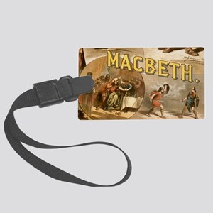 Vintage Macbeth Theatre Poster Large Luggage Tag