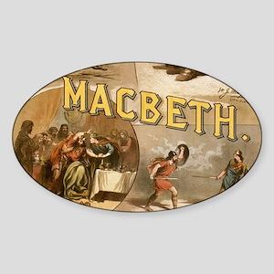 Vintage Macbeth Theatre Poster Sticker