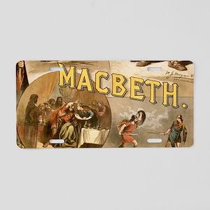 Vintage Macbeth Theatre Pos Aluminum License Plate