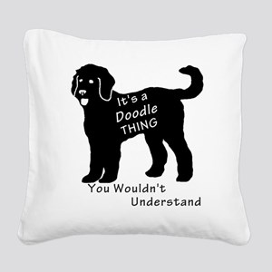 It's a Doodle Thing Square Canvas Pillow