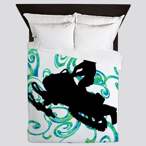SNOWMOBILE Queen Duvet