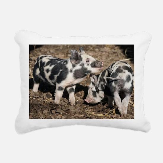 Unique Piggies Rectangular Canvas Pillow