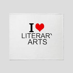 I Love Literary Arts Throw Blanket