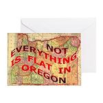 Flat Oregon Greeting Card