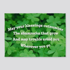 Irish Blessing 5'x7'Area Rug