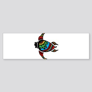 Rainbow Shelled Sea Tortuous Bumper Sticker