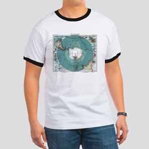 Vintage Antarctica Map T-Shirt