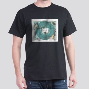 Vintage Antarctica Map T-Shirt