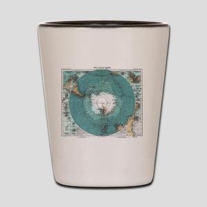 Vintage Antarctica Map Shot Glass