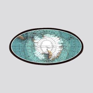 Vintage Antarctica Map Patch
