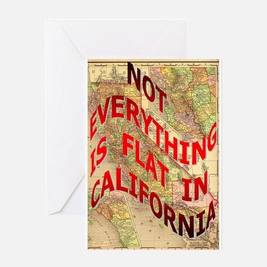 Flat California Greeting Card