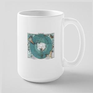 Vintage Antarctica Map Mugs