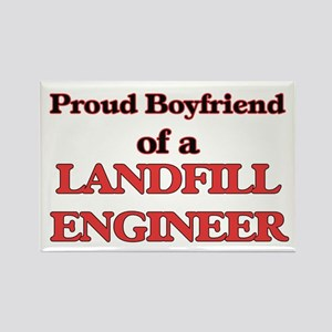 Proud Boyfriend of a Landfill Engineer Magnets