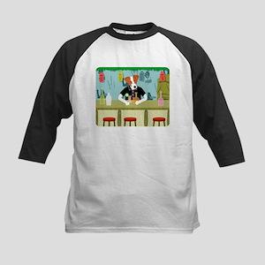 Jack Russell Terrier Tiki Kids Baseball Jersey