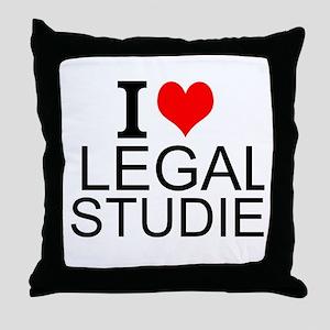 I Love Legal Studies Throw Pillow